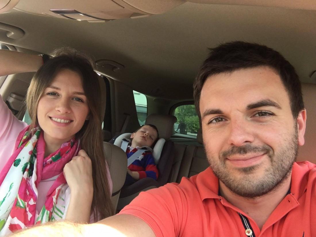 Гриша с женой и сыном