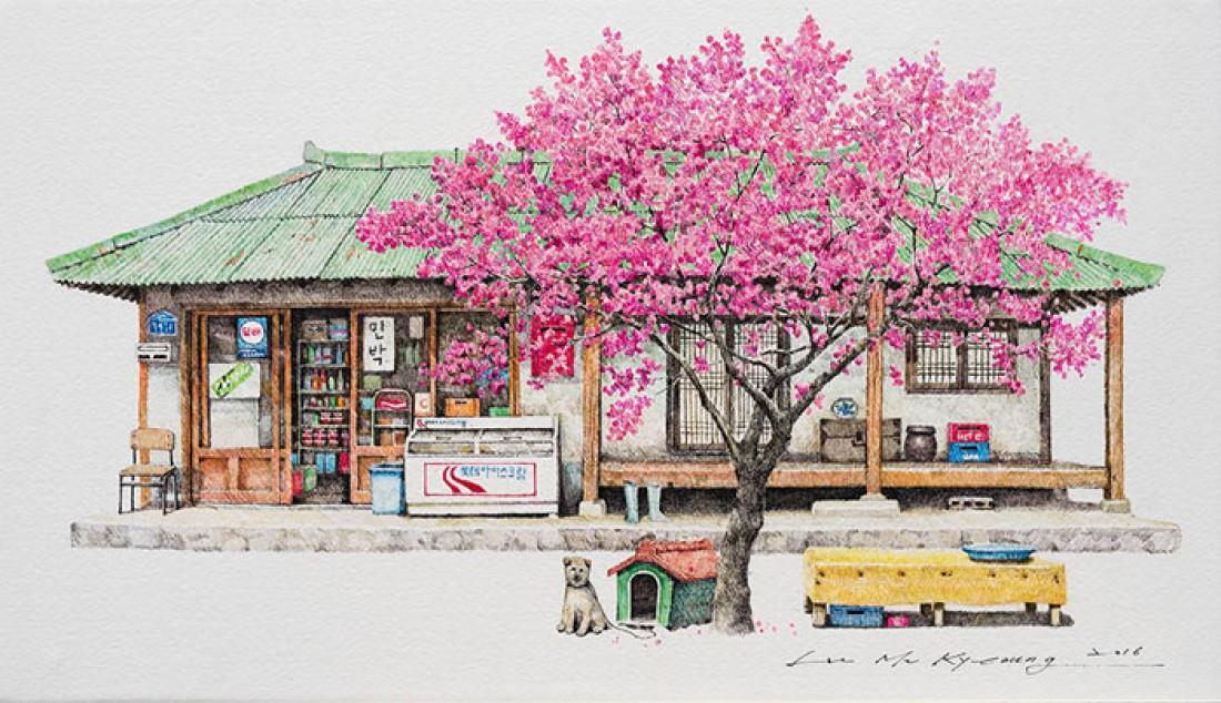 Южная Корея в рисунках художницы Ми Куонг Ли