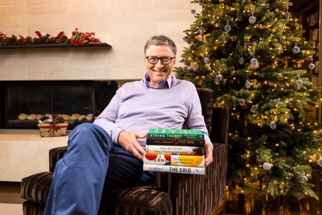 Билл Гейт с любимыми книгами
