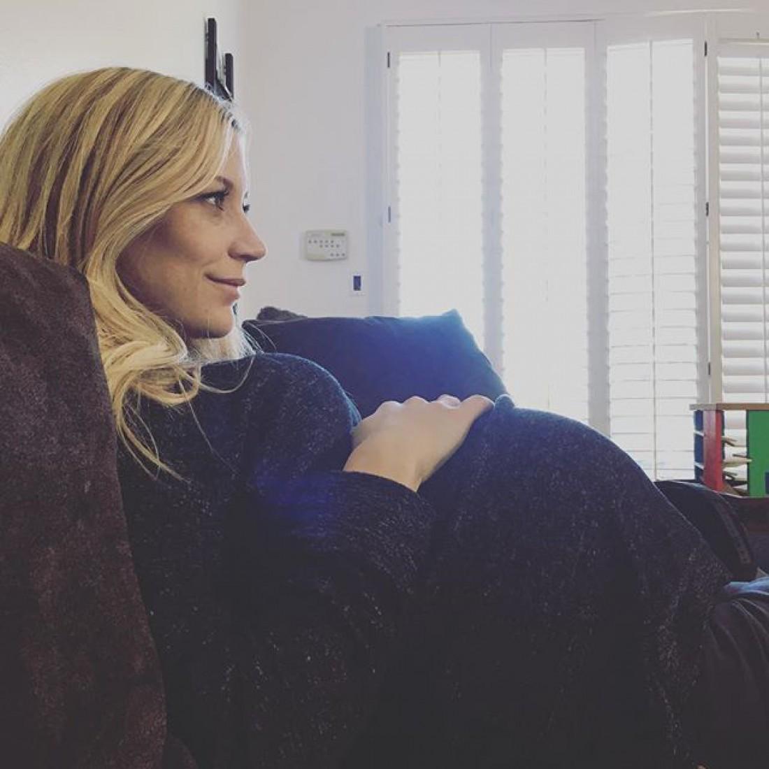 Сара Ремер во время второй беременности