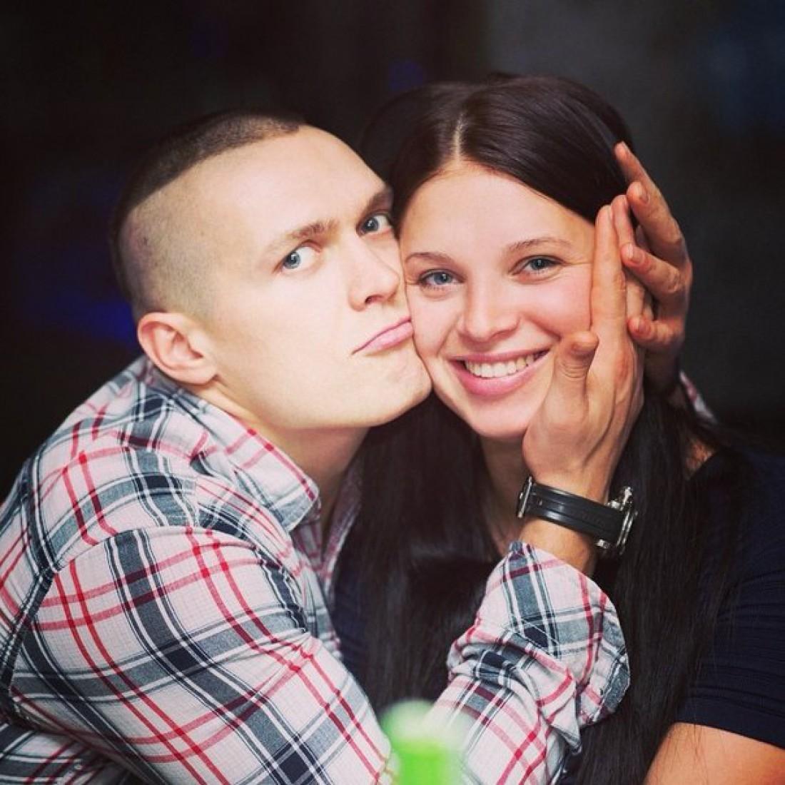 Усик с женой Катей