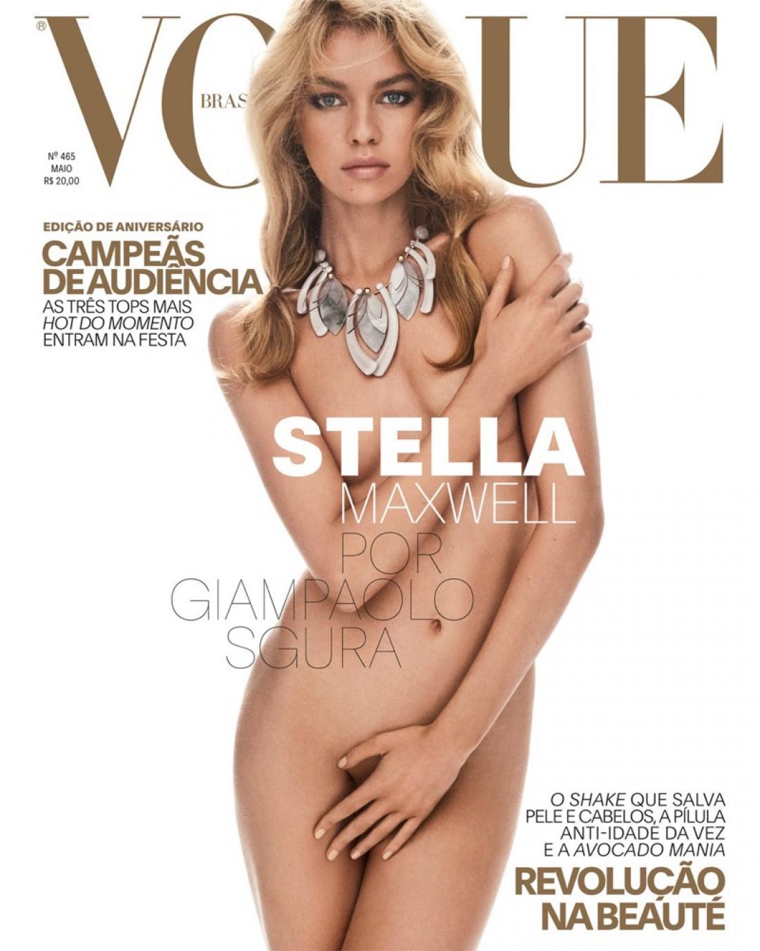 Стелла Максвелл в новой фотосессии для обложки бразильского Vogue