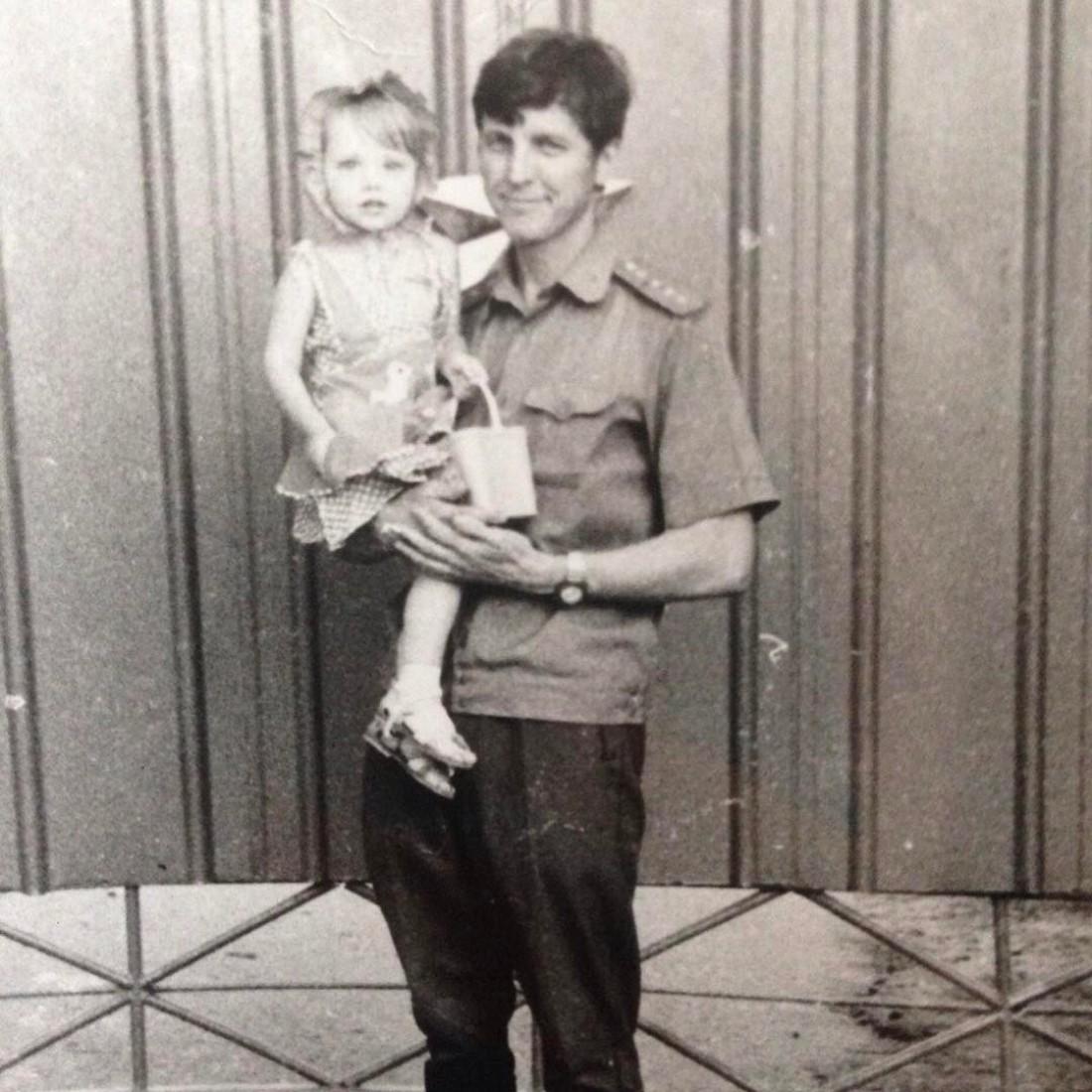 Надя со своим отцом Владимиром