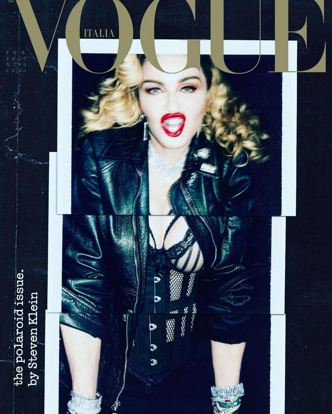 Певица Мадонна на обложке итальянского Vogue