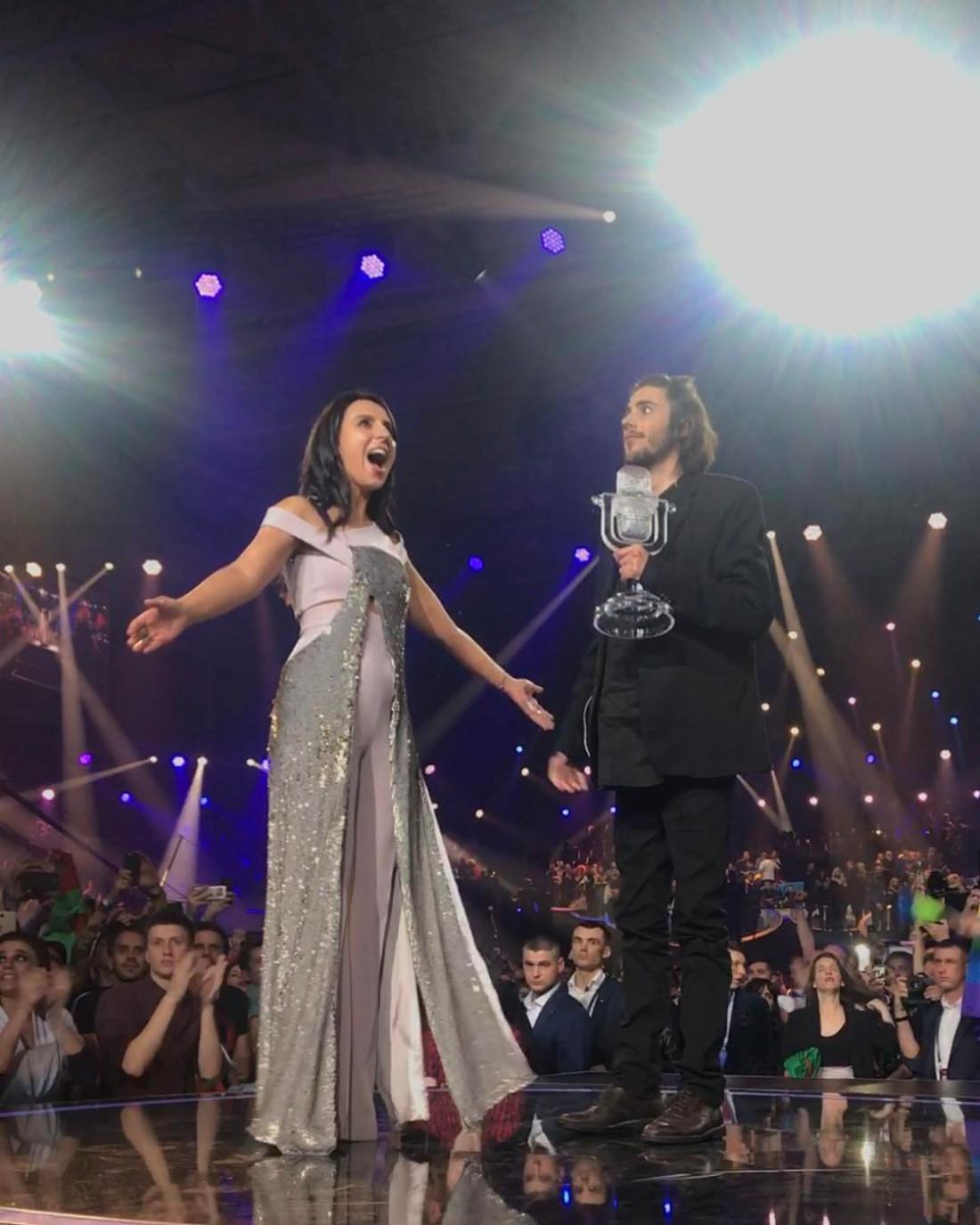 Джамала с победителем Евровидения 2017 – португальцем Сальвадором Собралом