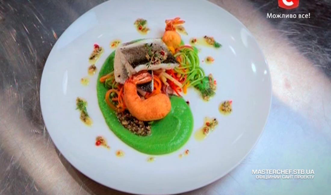 МастерШеф 5 сезон тринадцатый выпуск: Блюдо, которое необходимо было приготовить участникам в первом конкурсе