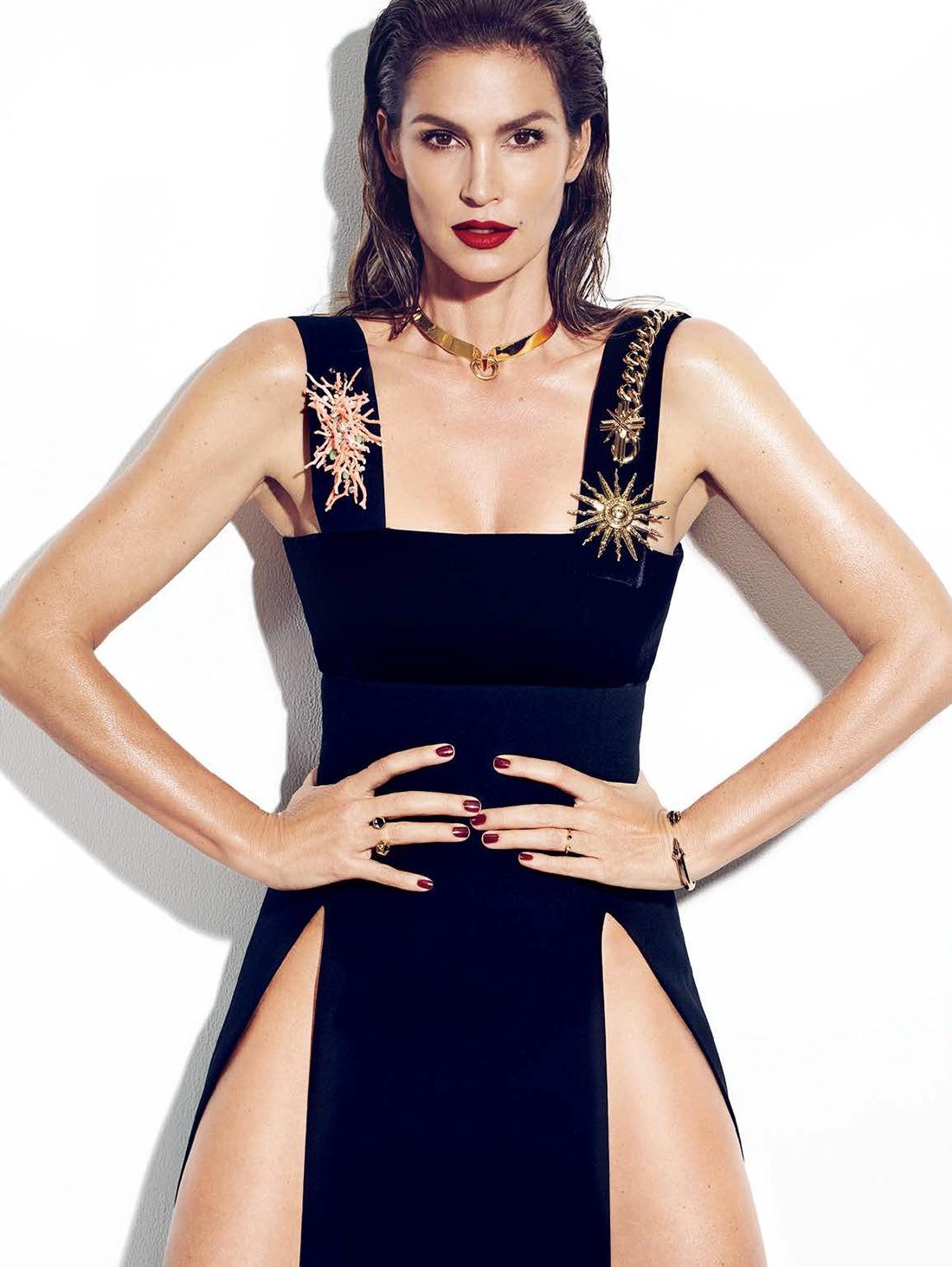 Синди Кроуфорд на обложке Elle