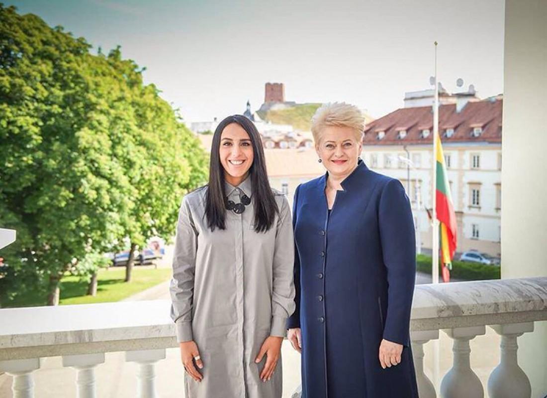 Певица Джамала и президент Литвы Даля Грибаускайте