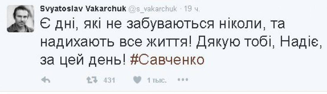 Twitter Святослава Вакарчука