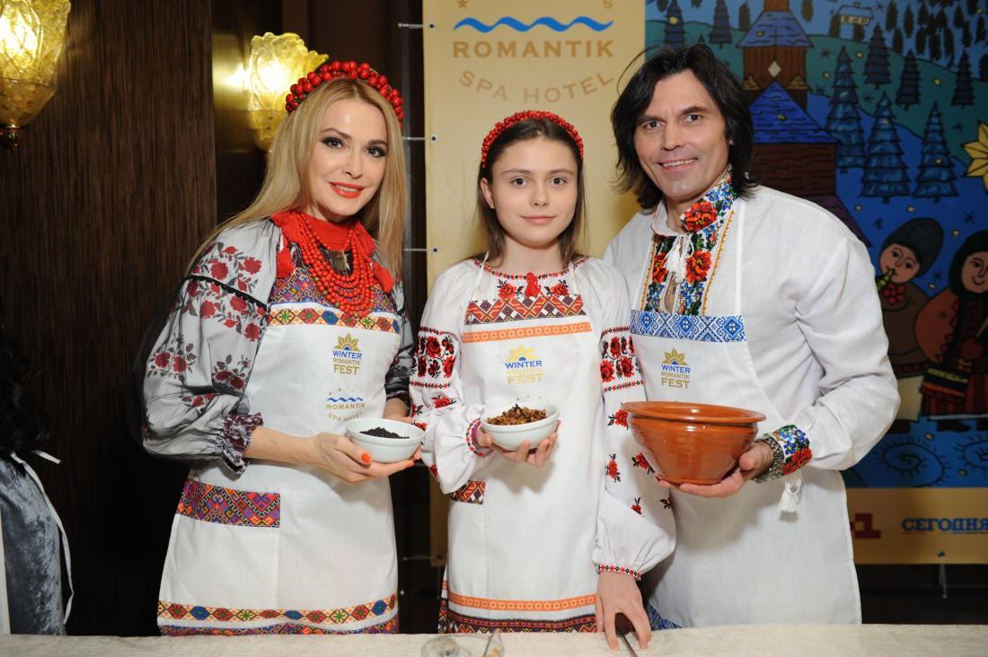 Ольга Сумская с мужем Виталием Борисюком и дочкой Анной
