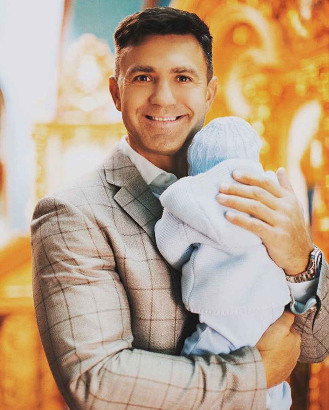 Николай Тищенко с сыном