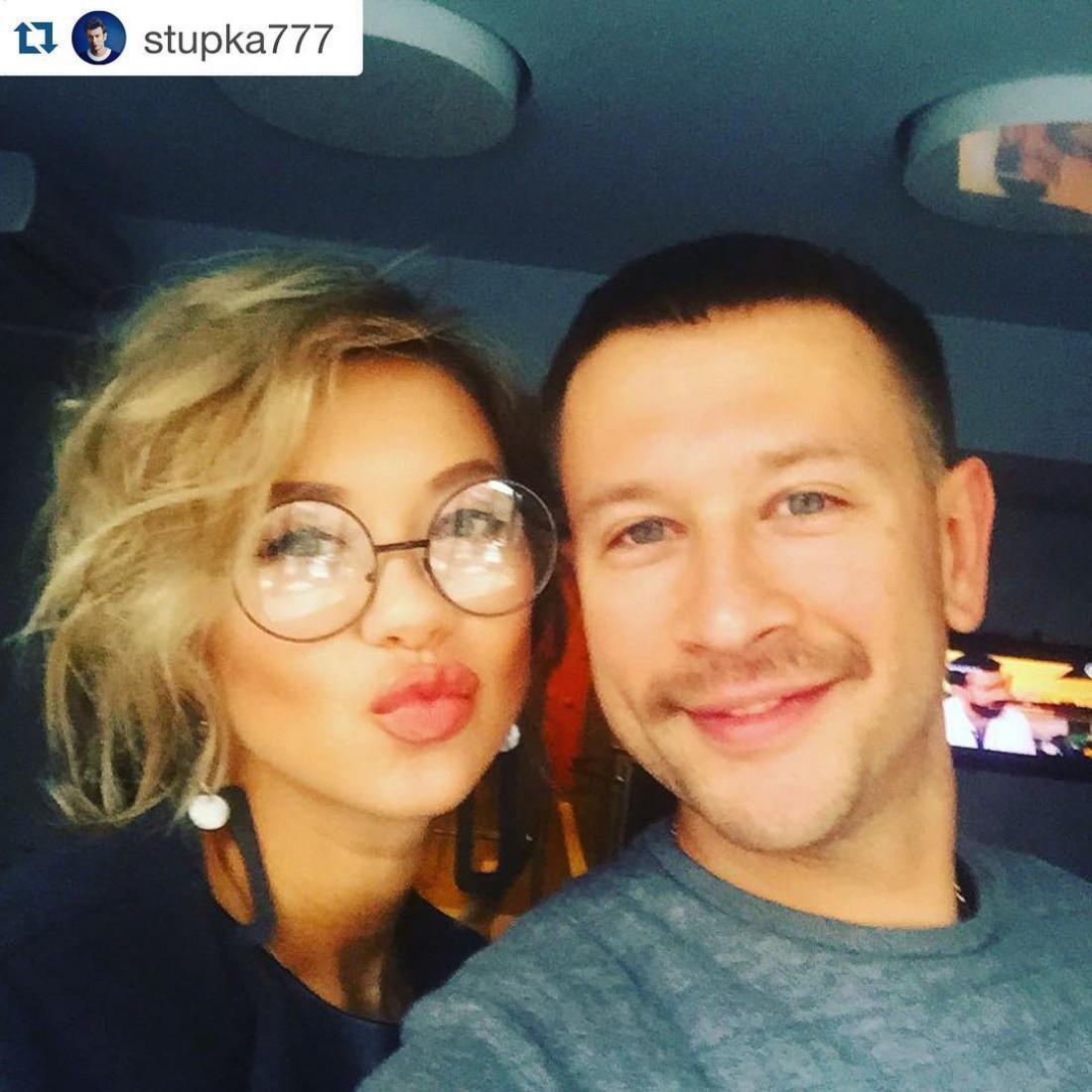 Дмитрий Ступка с Полиной Логуновой