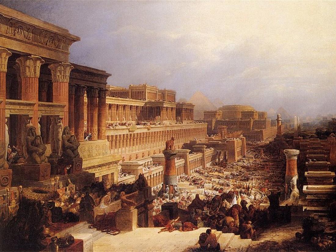 Евреи покидают Египет. Д. Робертс