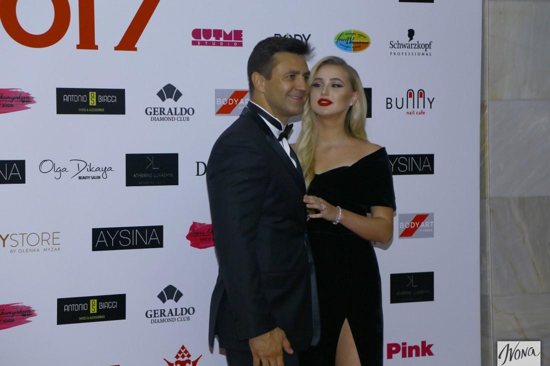 Николай Тищенко со своей женой Аллой на Мисс Украина 2017