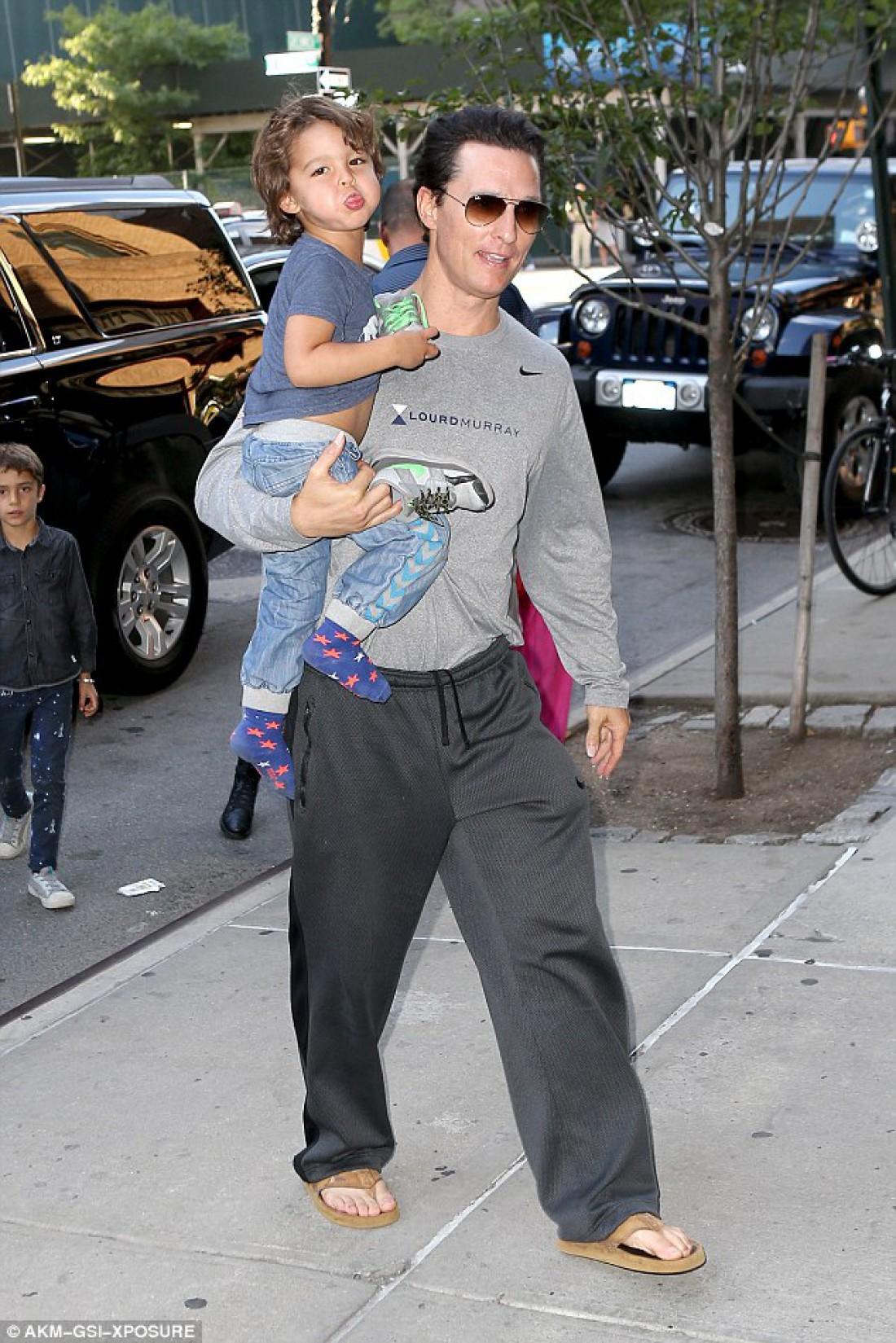 Мэттью Макконахи с сыном