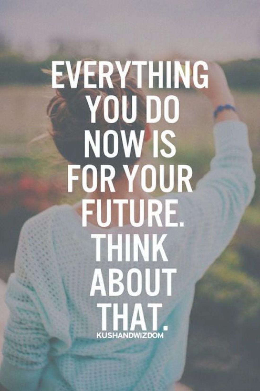 Все что ты делаешь сейчас - это вклад в будущее. Думай об этом.