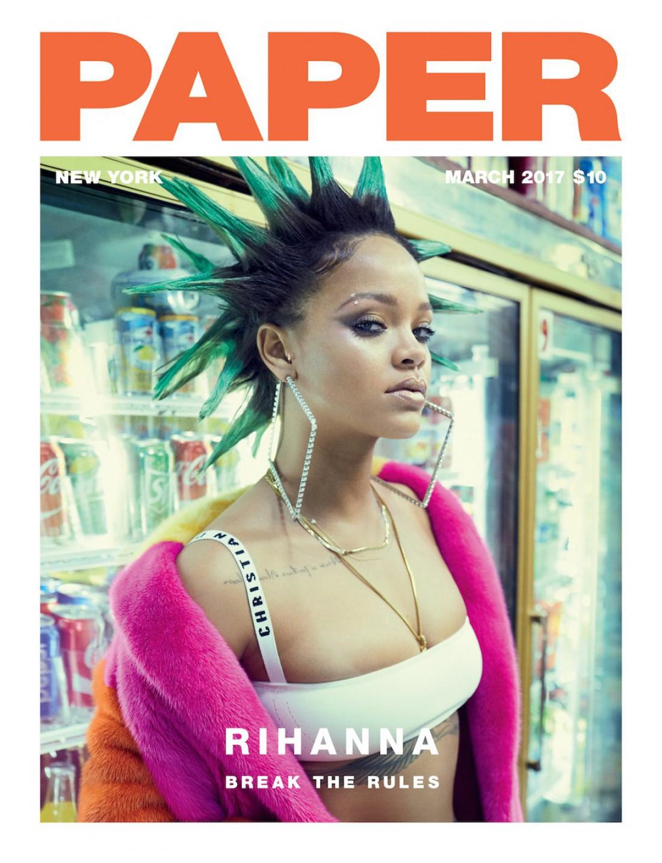 Рианна украсила страницы Paper Magazine