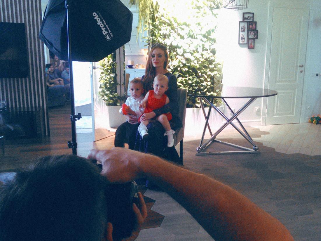 Слава Камиская с дочкой и сыном