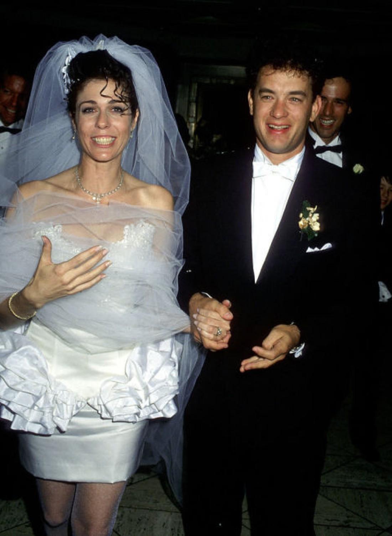 Том с Ритой в день свадьбы