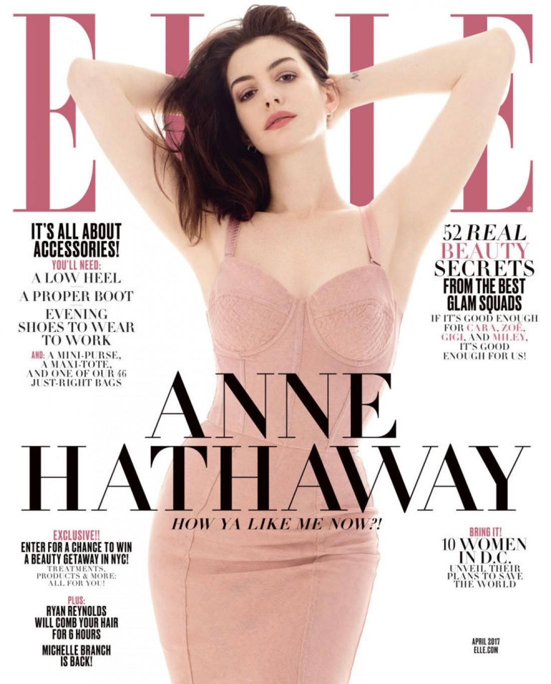 Актриса на обложке апрельского номера журнала Elle
