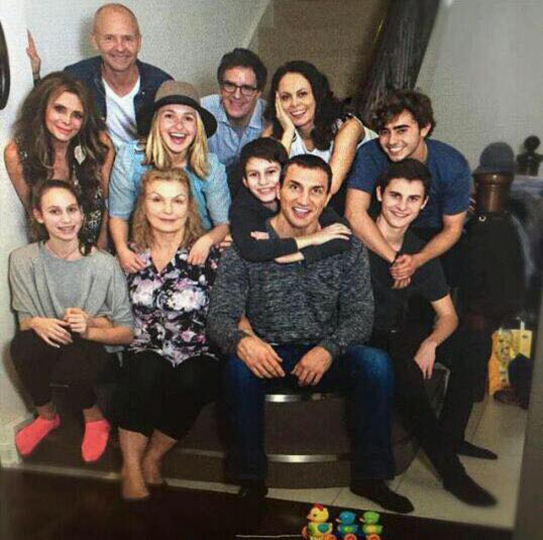 Семейное фото Кличко и Панеттьери