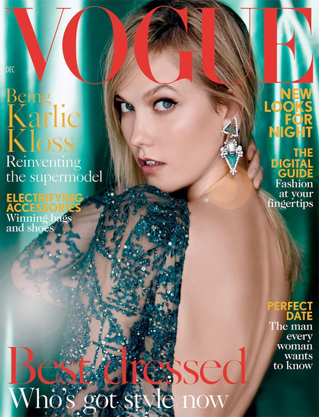 Модель Карли Клосс на страницах модного глянца