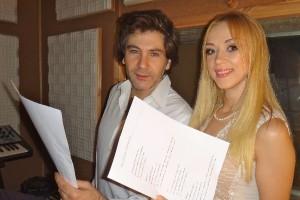 Наташа Валевская и Авраам Руссо запислати дуэтную песню