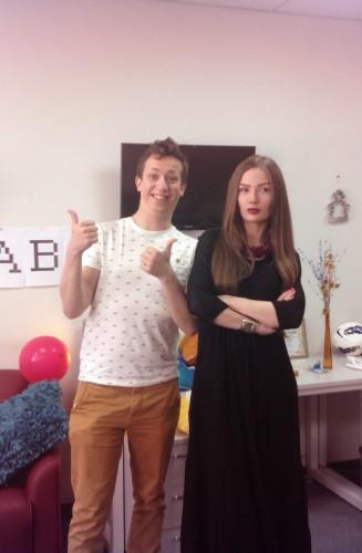 Леша Дурнев с новой соведущей шоу Дурнев +1