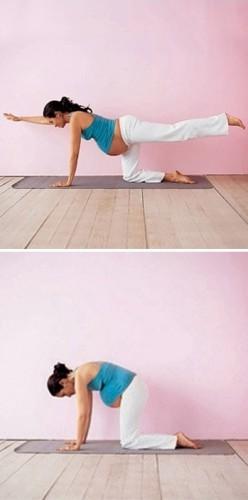Йога для беременных: Упражнение 1