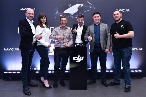 Украинские знаменитости на презентации DJI Mavic Air фото