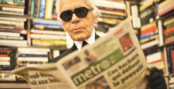 Карл Лагерфельд на один день стал редактром газеты Metro