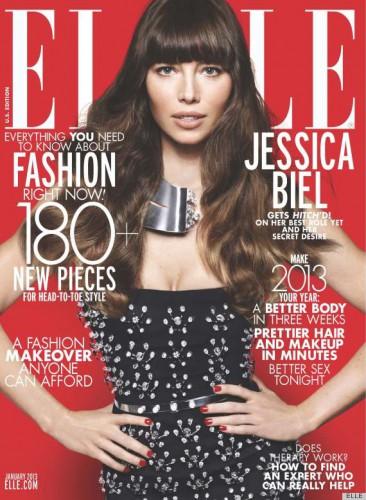 Актриса Джессика Биль на обложке Elle, январь 2013