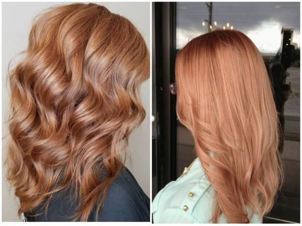 Оттенок клубничный блонд фото