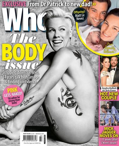 Пинк на обложке журнала Who