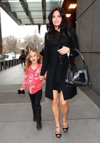 Кортни Кокс с одной из дочерей