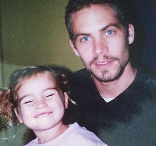 Архивное фото Пола Уокера с дочкой