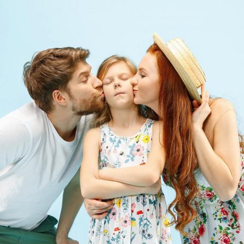 Надежда Хильская с семьей