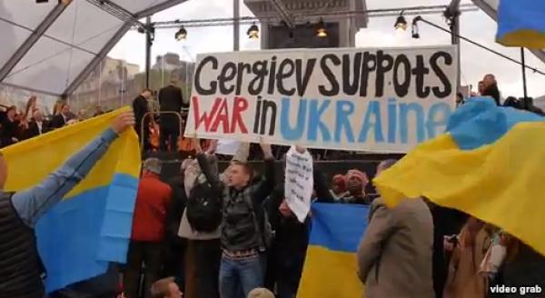 Протест против выступления российского дирижера Валерия Гергиева