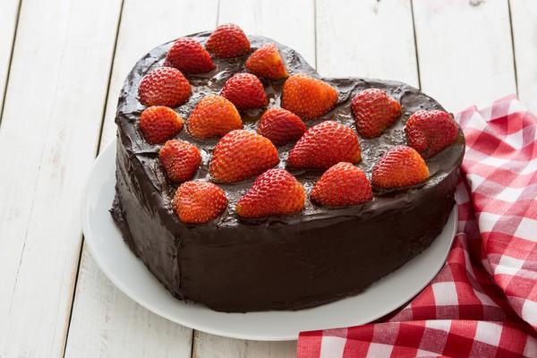 Торт на День Валентина с шоколадом