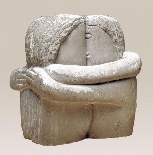 Скульптура Поцелуй Константина Бранкузи вдохновила Лилию Литковскую на создание коллекции The Kiss