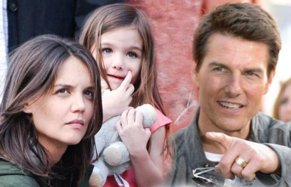 Актерская чета Том Круз и Кэти Холмс с дочерью Сури