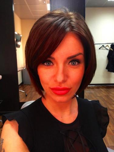 Юлия Волкова после стрижки
