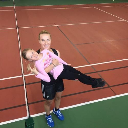 Старшая дочь Натальи Чистяковой-Ионовой Лидия и теннисистка Светлана Кузнецова