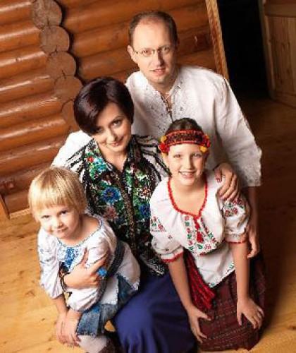 Семейное фото Арсения Яценюка