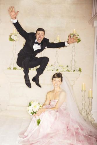 Свадебное фото Джастина Тимберлейка и Джессики Биль попали в Сеть