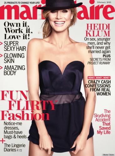 Модель Хайди Клум на обложке Marie Claire, февраль 2013