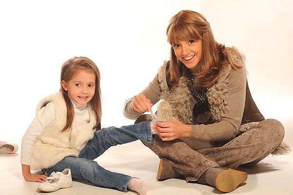 Оксана Марченко с дочкой
