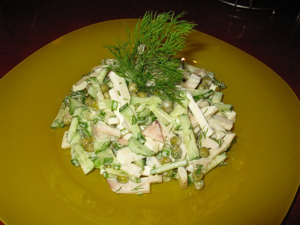 салат из вареных кальмаров со сметаной рецепт
