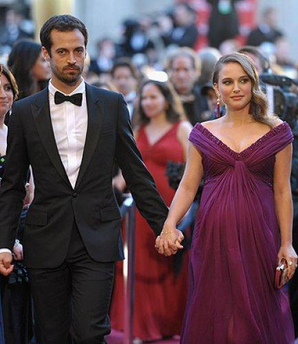 Натали и Бенджамин на ковровой дорожке Оскар 2011