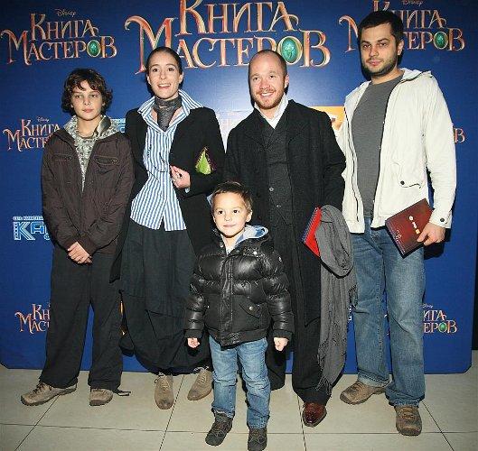 Евгений Стычкин с сыновьями Алексеем и Львом, любимая женщина Ольга и его друг
